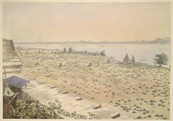 Panoramic view of Pagân, looking S.W. by S.